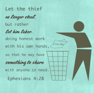 Don't Steal; Work, Give! - Ephesians 4:28