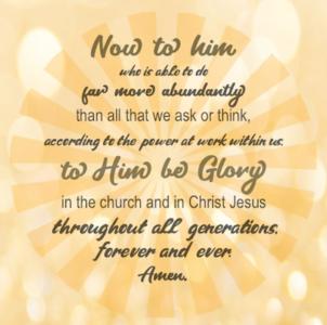 He is Able - Ephesians 3:21-22